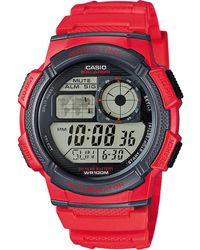 G-Shock Collection AE-1000W-4AVEF - Rojo