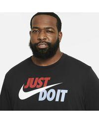 Nike T-shirt con logo Just Do It nera - Nero