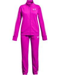 Under Armour Y Em Knit Track Suit Pink