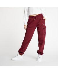 Nike Sportswear Cargo Pants Loose Fleece Dark Beetroot - Rojo