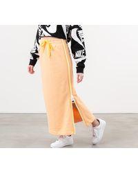 Nike Sportswear Fleece Long Skirt Orange Chalk/ White/ Laser Orange - Naranja