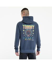 Tommy Hilfiger Washed Basketball Hoodie Twilight Navy - Blau