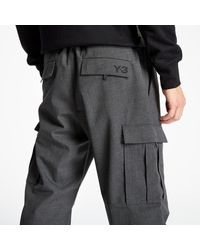 Y-3 Classic Wo Cargo Pants Charcoal - Brown