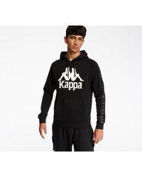 Kappa 222 Banda Hurtados Hoodie Black/ White Antique - Negro