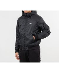 Nike Sportswear Windrunner Hooded Reversible Jacket Black/ Black/ White/ Sail - Noir