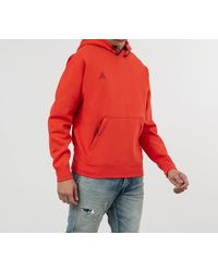 Nike ACG Hoodie Habanero Red - Rosso