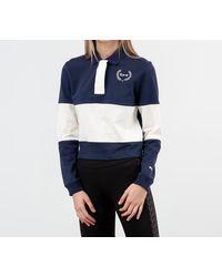 PUMA X Selena Gomez Rugby Polo Tee Peacoat/ Whisper White - Bleu