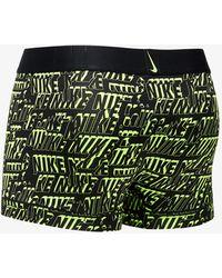 Nike Trunk Black/ Volt Logo Print - Grün