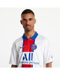 Nike Jordan Paris Saint-Germain Soccer Jersey White/ Old Royal - Bianco