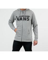 Vans Classic Zip Sweatshirt Grey - Negro