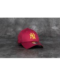 8e4681df7bb ... cheap ktz 9forty league essential new york yankees cap scarlet gold lyst  69255 fcae3