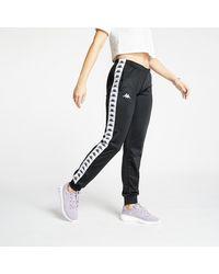 Kappa Banda Wrastoria Slim Pants Black/ White - Schwarz