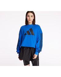 adidas Originals Adidas Adjustable Three Stripes Sweatshirt Blue - Blau