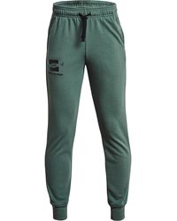 Under Armour Y Rival Terry Pants Green - Verde