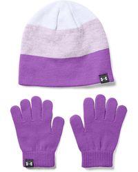 Under Armour G Beanie Glove Combo Purple - Violet