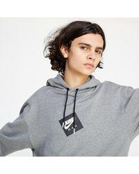 Nike - Jmc Fleece Po Carbon Heather/ Black - Lyst