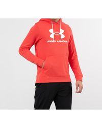 Under Armour Sportstyle Terry Logo Hoodie Red - Grigio