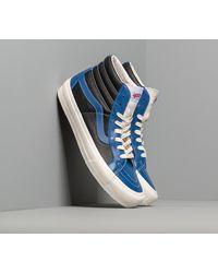 Vans Sk8-hi Reissue Vl (leather) True Blue/ Black - White