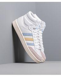 adidas Originals Adidas Americana Hi Ftw White/ Glow Blue/ Easy Yellow - Blanco