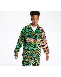 RIPNDIP Ripple Brushed Fleece Half Zip Jacket Multicolor - Vert
