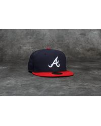 KTZ - 59fifty Acperf Atlanta Braves Cap Navy - Lyst