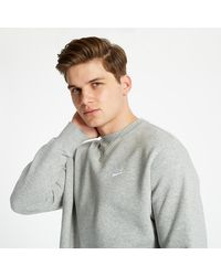 Nike Sportswear Club Fleece Crewneck Dark Grey Heather/ White - Gris