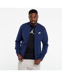 Nike Sportswear Club Bomber Jacket Midnight Navy/ Midnight Navy/ White - Bleu