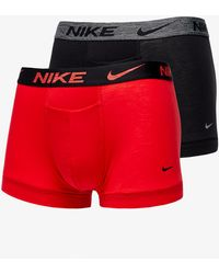 Nike Dri-FIT ReLuxe Trunk 2 Pack University Red/ Black - Multicolore