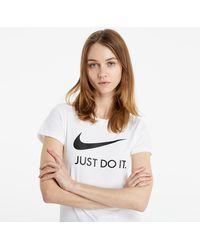 Nike Sportswear W JDI T-Shirt White/ Black - Blanc