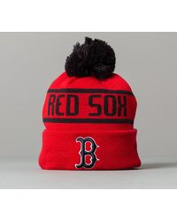 KTZ MLB Bobble Knit Boston Red Sox Beanie Red - Rosso
