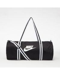 Nike Heritage Duffel Bag Black/ Black/ White - Schwarz