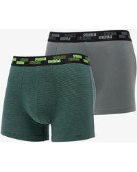 PUMA 2 Pack Everyday Comfort Boxers Green Combo - Verde