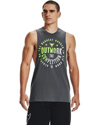 Under Armour Project Rock Outwork Tank Gray - Gris
