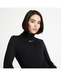 Nike Sportswear Swoosh Top Longsleeve Mock Black - Noir