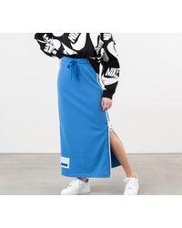 Nike Sportswear Fleece Long Skirt Pacific Blue/ White/ Soar