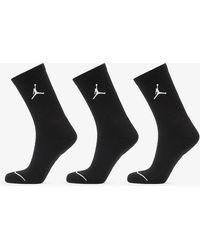 Nike Jordan Everyday Max 3PR Crew Socks Black/ Black/ Black - Schwarz