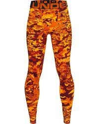Under Armour Y Cg Armour Prtd Leggings Orange
