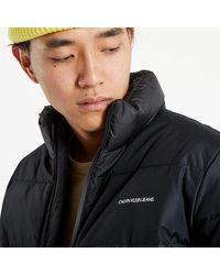 Calvin Klein Blocking Faux Down Jacket - Noir