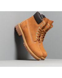 Timberland Premium 6 In Waterproof Boot Wheat Nubuck - Marrone