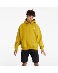 Nike ACG Pullover Fleece Hoodie Peat Moss/ Desert Moss/ Summit White - Gelb