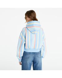 Tommy Hilfiger Stripe Hoodie Light Powdery Blue Stripe - Bleu