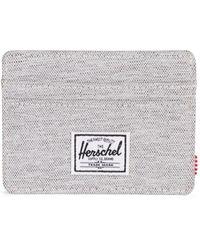Herschel Supply Co. Herschel Supply Charlie RFID Light Grey Crosshatch - Grau