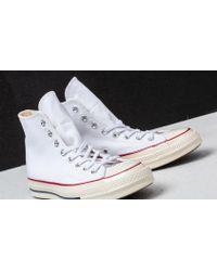 Converse - Chuck Taylor All Star 70 Hi White/ Garnet/ Egret - Lyst