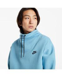 Nike Sportswear Tech Fleece LS FNL Nk Top Cerulean/ Black - Azul