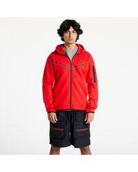 Nike Sportswear Tech Fleece Full-Zip Hoodie University Red/ Black - Rosso
