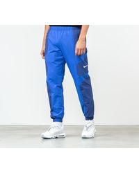 Nike Sportswear Re-Issue Pants Deep Royal Blue/ Hyper Royal/ White - Azul
