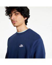 Nike Sportswear Club Crew Blue - Bleu