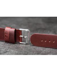 Komono Winston/ Walther Strap 20 Chestnut Silver - Metallic