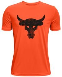 Under Armour Project Rock Y Brhmabull Ss Orange