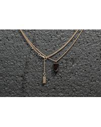 Footshop - A.p.c. Ofer Necklace Gold/ Brown - Lyst